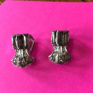 Jewelry - Art Deco clip Vintage costume earrings